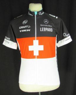 Craft Cycling Jersey M SS Road Bike Shirt Trek Replica Black Red Full