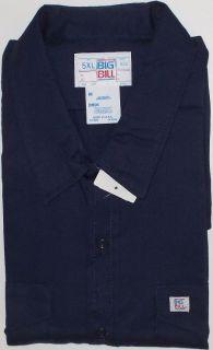 Shirt Long Sleeve Navy Big Bill Codet Poly Cotton USA Big Tal