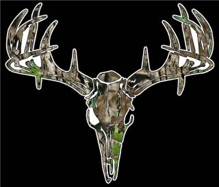 Camo Deer Skull S4 Vinyl Sticker Decal Hunting Big Buck Whitetail