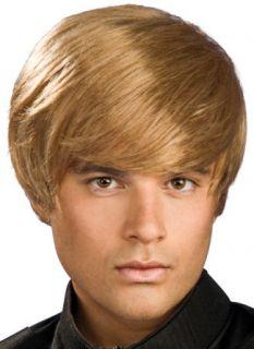 Justin Bieber Halloween Adult Costume Wig Hair Bruno Mens