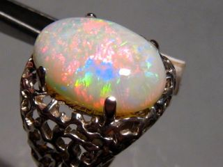 BIG DADDY 8.60 ct 100% Natural Australian Opal Mens Ring Silver Size