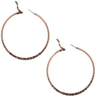 New Large Copper Rox Pierced Hoop Earrings Made USA