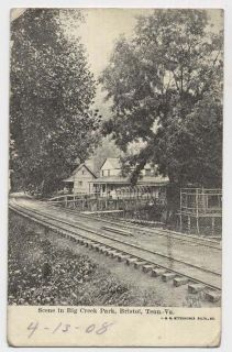 1902 Bristol VA TN Big Creek Park Railroad Tracks House