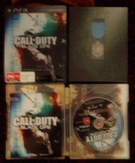 Call of Duty Black Ops Hardened Edition PS3 Game with Medal and hard