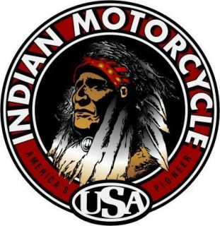 22 Big Chief Indian Motorcycle Decal Sticker 543M