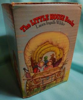 Little House on The Prairie Vintage 1980s Box Set 9 Books Laura