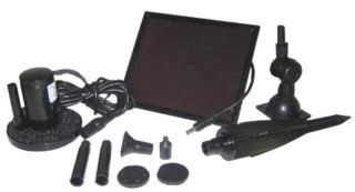 Solar Fountain Kit 3 Heads Water Pump for Pond or Birdbath