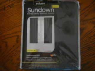NEW Eclipse Black Energy Saving Blackout Curtain Window Panel 30 x 63