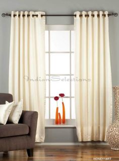 Cream Ring Grommet Top 90 Blackout Curtain Drape Panel Custom Made