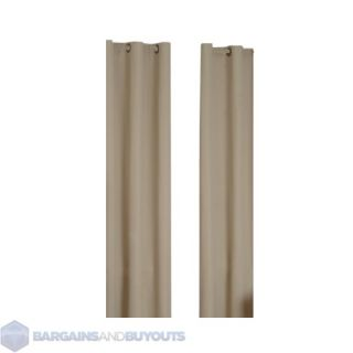 Eclipse Curtains Microfiber Grommet Top Blackout Window Panel in Beige