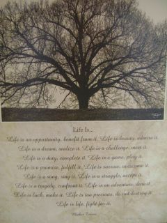 Life Is Print Saying by Mother Teresa Large Tree at Top