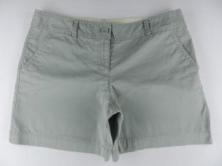 Ann Taylor LOFT Light Sage Green 100% Cotton Casual Shorts WOMENS Sz 8
