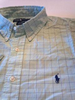 Polo Ralph Lauren s s Blake B D Shirt L Mint Green Tattersall Button