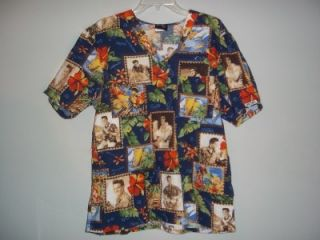 Elvis Presley Cherokee Brand Scrub Top Sz s Really Nice
