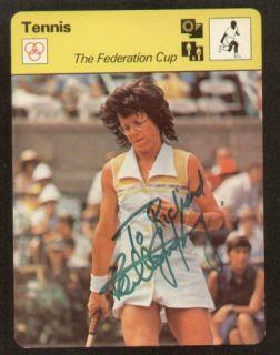 Billie Jean King Signed Autograph SPORTSCASTER Card