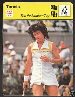 Billie Jean King Tennis 1978 SPORTSCASTER Card 38 24B