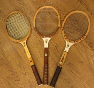 tennis Racquets AUTOGRAPH Stan Smith / Billie Jean King / Jack Kramer