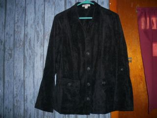 Coldwater Creek Black Natural Twill Jacket Lightweight 2X Plus
