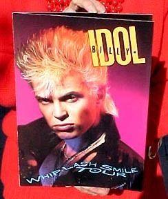 Billy Idol 1986 Tour Program Whiplash Smile