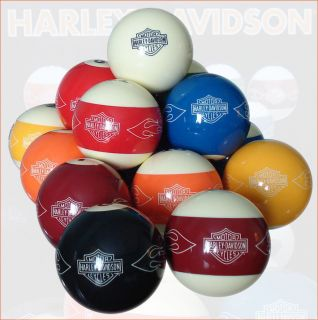 Harley Davidson Customized Pool Billiard Balls Set