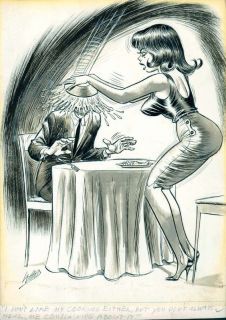 Bill Ward Original Humorama Good Girl Cartoon Art 1960S
