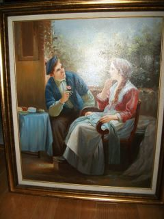 Bill Hopeman Oil Painting Young Man Woman