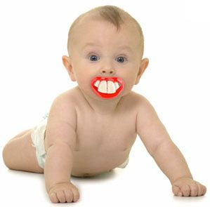 Little Lil Vampire Billy Bob Pacifier Baby Funny Teeth Fang Halloween