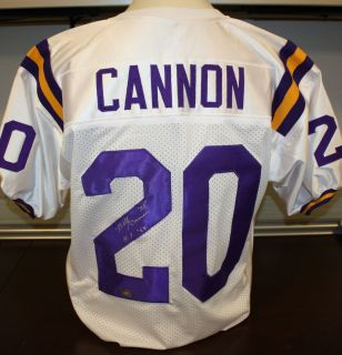 Billy Cannon Autographed LSU Tigers White Jersey Authenticated by AAA