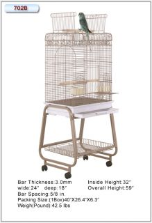 HQ Cages 702 Parrot Bird Cage 22x17x60 Toy Toys Mini Macaws Electus