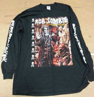 Rob Zombie Hellbilly Deluxe Long Sleeve Mens Tee Shirt Large Black