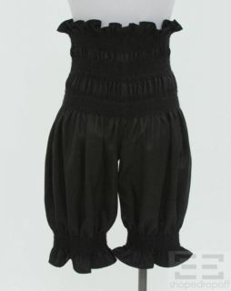Tao Comme des Garcons Black Wool Smocked Bloomer Pants Size M