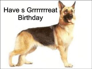 Birthday Cake Topper German Shepard Personalised Icing A4 Sheet