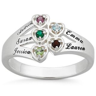 Personalized Mothers Day Ring Choose Names Birthstones