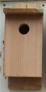 new cedar wood bluebird birdhouse outdoor bird house
