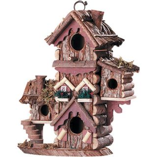 Gingerbread Style Birdhouse Avian Bird House Multi Level Condo