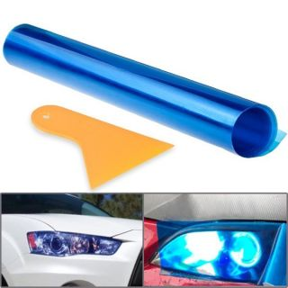 15 x58 Blue Vinyl Film For Head Light Tail Brake Fog Lamp Protective w