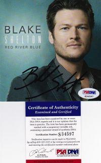 BLAKE SHELTON RED RIVER BLUE signed autographed CD cover PSA DNA COA