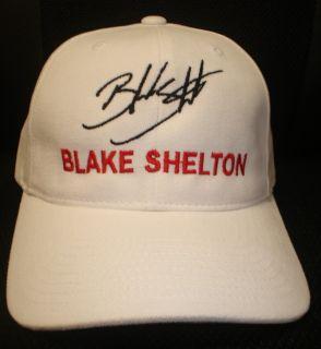 Blake Shelton Cap Hat with Stitched Autograph