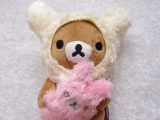 Rilakkuma Bear Christmas Birthday Plush Toy Coin Bag Key Chain iPhone