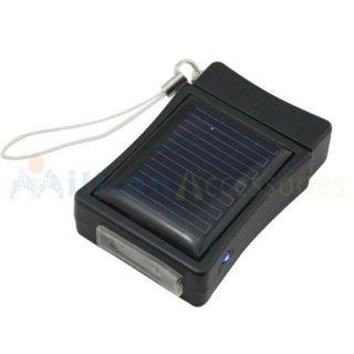 Black Lighter Shape Solar Power Charger 400mAh for iPhone 3G 3GS 4G 4