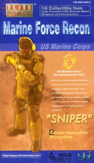 Blue Box Toys USMC Marine Force Recon Action Figure Sniper 1 6th Scale
