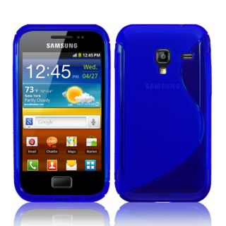 Line Wave Gel Case Cover for Samsung Galaxy Ace Plus S7500 Film