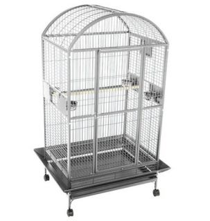 Stainless Steel Bird Pet Supplies Dometop Cockatoos Cage 48W x