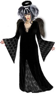 Black Gothic Dark Angel Plus Size Halloween Costume New Standard Extra