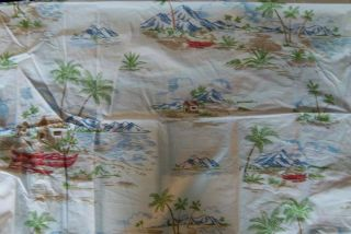 New Pottery Barn Kids Blue Island Toile Full Queen Duvet Surf Ahola