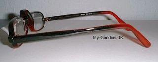 Red Black Unusual Half Moon Specs Reading Glasses 2 50