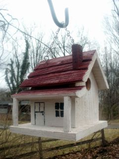 Bird House Folk Art Rustic Primitive Style Birdhouse