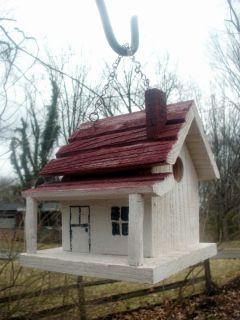 Bird House Folk Art Rustic Primitive Style Birdhouse