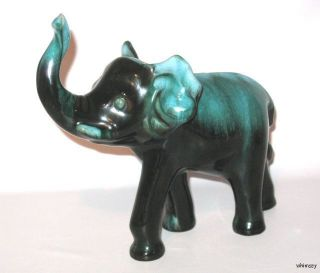 Blue Mountain Pottery Elephant Figurine Green BMP