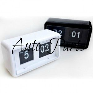 Retro Auto Flip Clock Table Desk Wall Kitchen Black White Red